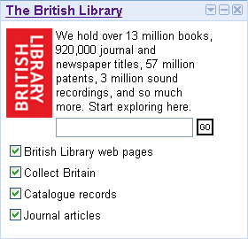 British Library bei iGoogle